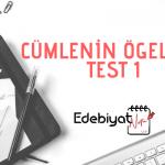 Cümlenin Ögeleri Online Test 1