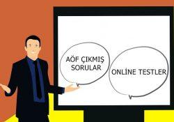 AÖF Çıkmış Sorular ve Online Test