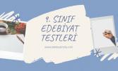 9. Sınıf Edebiyat Testleri Online Test Çöz