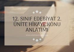 12. Sınıf Edebiyat 2. Ünite Hikaye Konu Anlatımı