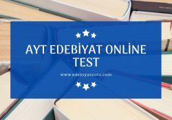 Ayt Edebiyat Online Test
