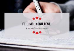 Fiilimsi Testi Online