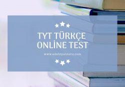 Tyt Türkçe Online Test