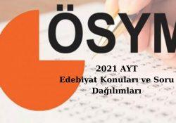 2021 Ayt Edebiyat Konuları